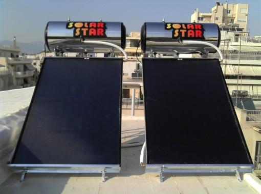 ΗΛΙΑΚΟΣ ΘΕΡΜΟΣΙΦΩΝΑΣ 160lt/2m2  ΓΑΛΒΑΝΙΖΕ Solar Star -Διπλής Ενεργείας