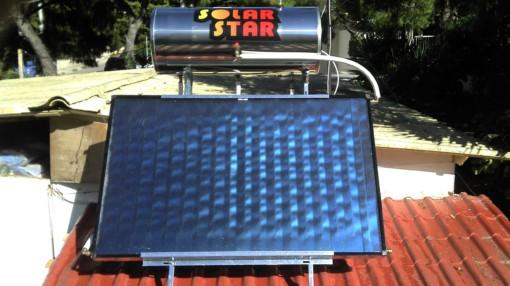 ηλιακός θερμοσίφωνας Solar star 160lt/2,5m² Glass  Διπλής ενεργείας -Επιλεκτικός οριζόντιος συλλέκτης-Ως 3 Άτοκες Δόσεις