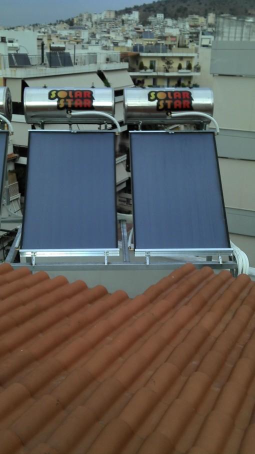 ηλιακος θερμοσιφωνας Solar star 120lt/1,5m² γαλβανιζε  Επιλεκτικός-Διπλής ενεργείας
