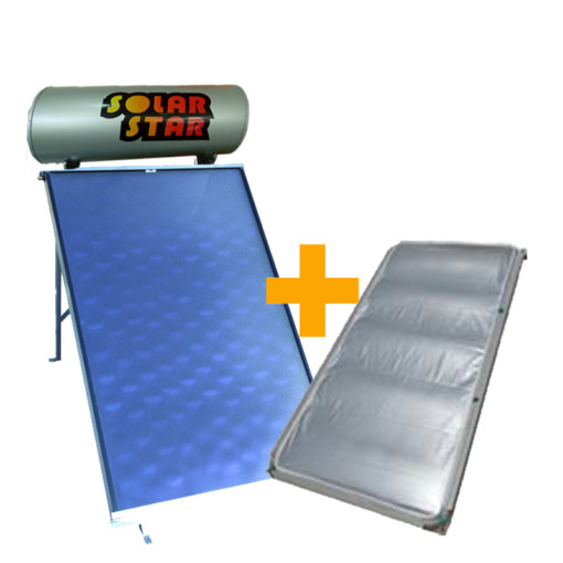 Ηλιακός θερμοσίφωνας Solar Star με δώρο Κάλυμμα - solar star 160/2,0m2  glass economy διπλής ενεργείας επιλεκτικός